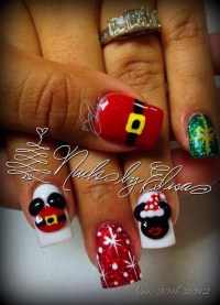 Mickey and Minnie Christmas Nails!! | Painted Piggies ...