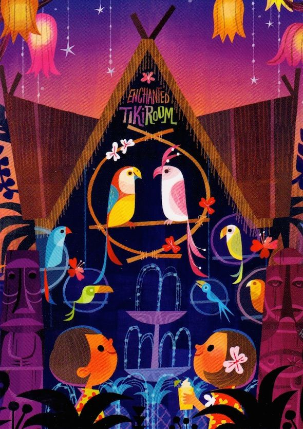 Alice In Wonderland Wallpaper Iphone Quot Tiki Birds Quot By Joey Chou 5x7 Print Only Available