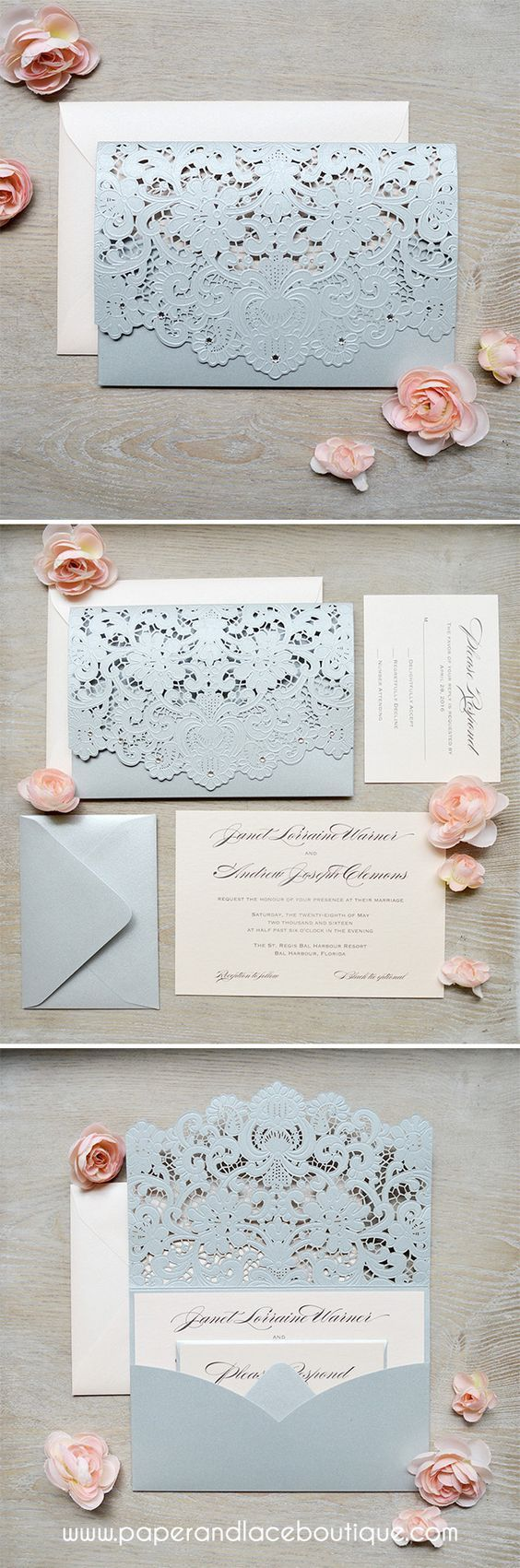 Michaels crafts wedding invitations - Invitations Michaels Craft Store Silver And Blush Laser Cut Wedding Invitations Download