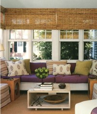 Window treatment and color options for the sunroom ...