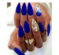 25+ best ideas about Royal blue nails on Pinterest | Blue ...