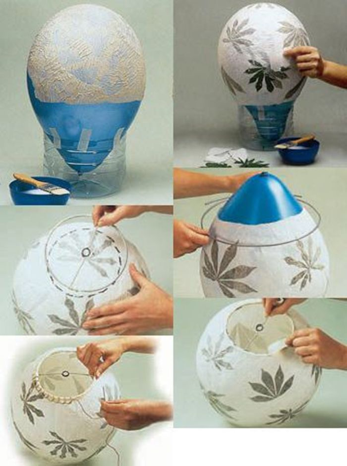 flower and water paper mache