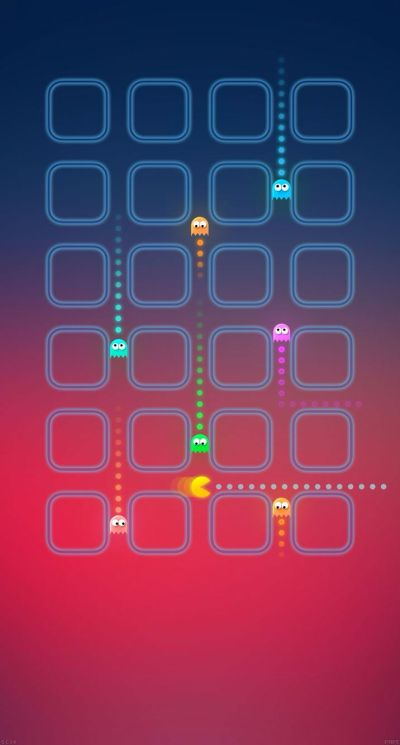 Pacman Chase #iPhoneWallpaper | iPhone Wallpapers | Pinterest | Wallpaper and Screen wallpaper