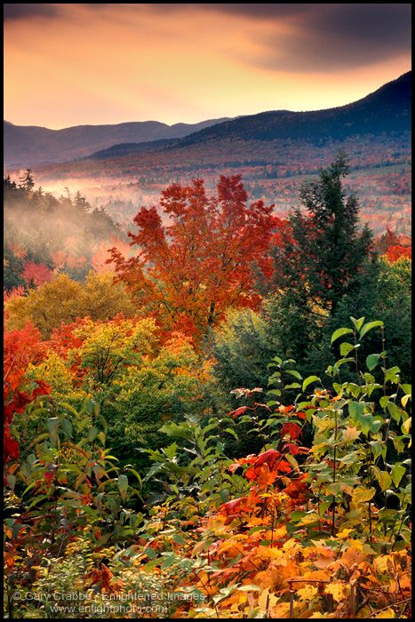Fall Computer Wallpaper Backgrounds Sunrise Along The Kancamagus Highway In Autumn White