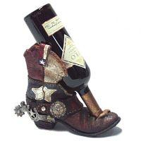 Texas Flag Cowboy Boot Wine Holder | Cowboy / western ...