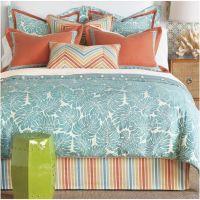 Aqua and Coral Eastern Accents Bedding Set | Cozy Bedroom ...