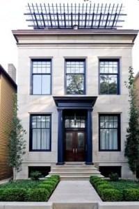 Sharp black trim on white stucco | beautiful facades ...