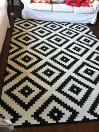 Home Chic Raleigh - Ikea rug, black and white rug, black ...