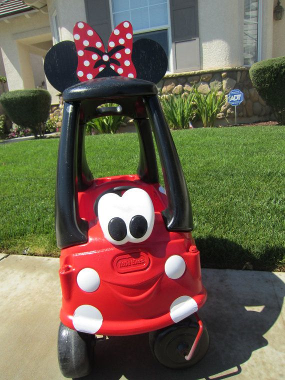 Babies Car Seat Covers Minnie Mouse Car Cozy Coupe Kit Vinyl Sticker And Tutorial