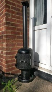 Log burner, Scrap and Patio on Pinterest