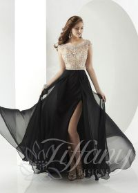 Tiffany Designs 16148 Jeweled Bodice A-Line Evening Gown ...