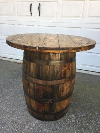 25+ best ideas about Whiskey Barrel Table on Pinterest