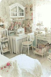 Shabby chic craft room | For the Home | Pinterest | Crafts ...