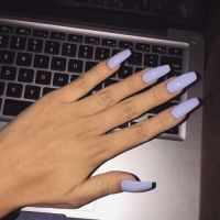Best 25+ Purple acrylic nails ideas on Pinterest