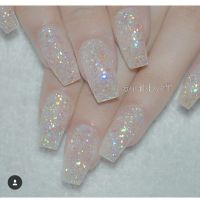 25+ best ideas about Clear glitter nails on Pinterest ...