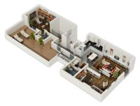 1000+ images about 3D Housing Plans/Layouts on Pinterest ...