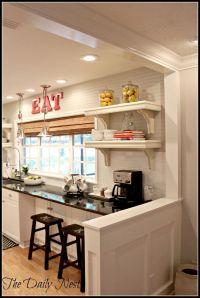25+ best ideas about Half Wall Kitchen on Pinterest   Half ...