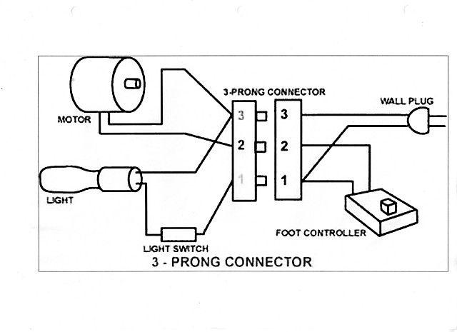 singer motor wiring diagram