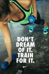 Don't dream of it. Train for it. #weightloss #fitness