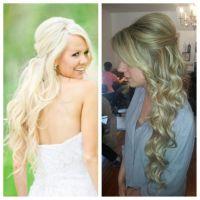 bridal hair. Wedding hair. long hair. extensions. Blonde ...