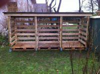DIY Pallet Wood Shed | Outdoor Shed Plans Free | Pinterest ...