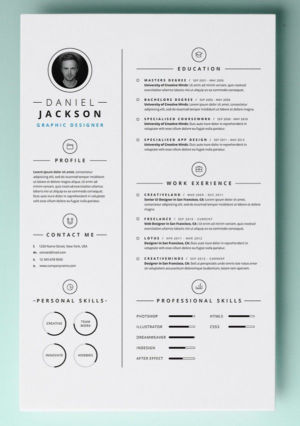 free word resume templates modern for mac