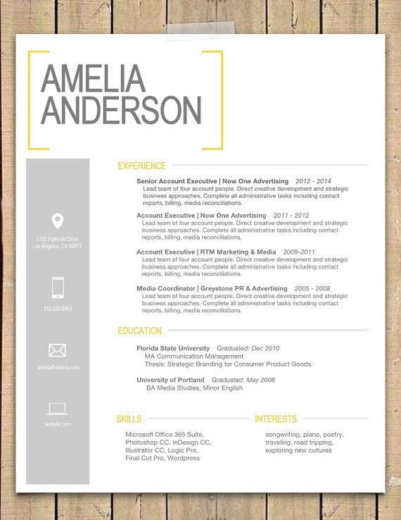 Mac Resume Templates Modern Resume Cover Letter Template Editable - mac pages resume templates