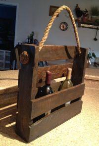 Pallet wine rack