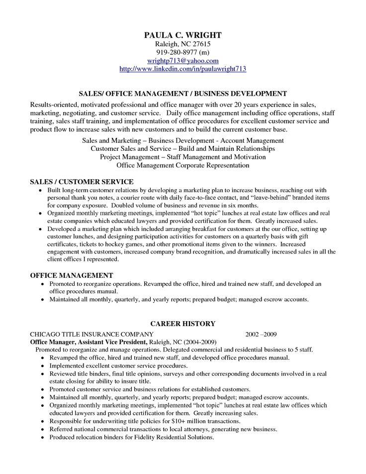 example resume profile 05052017