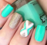Best 20+ Teal nail designs ideas on Pinterest