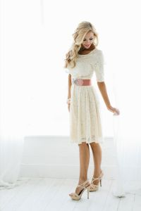 25+ Best Ideas about Cream Lace Dresses on Pinterest | Tan ...
