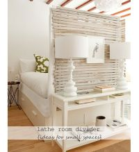 Recycled Lathe Room Divider - DIY Small Apartment ...