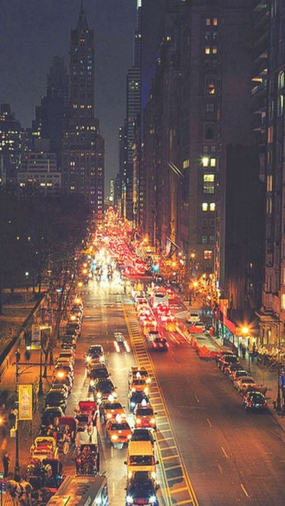 Busy New York Street Night Traffic #iPhone #5s #wallpaper | iPhone 5(s) Wallpapers | Pinterest ...