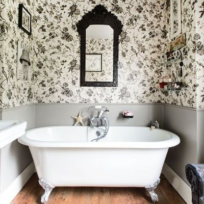 1000+ ideas about Small Bathroom Wallpaper on Pinterest | Cloakroom Suites, Pedestal Sink ...
