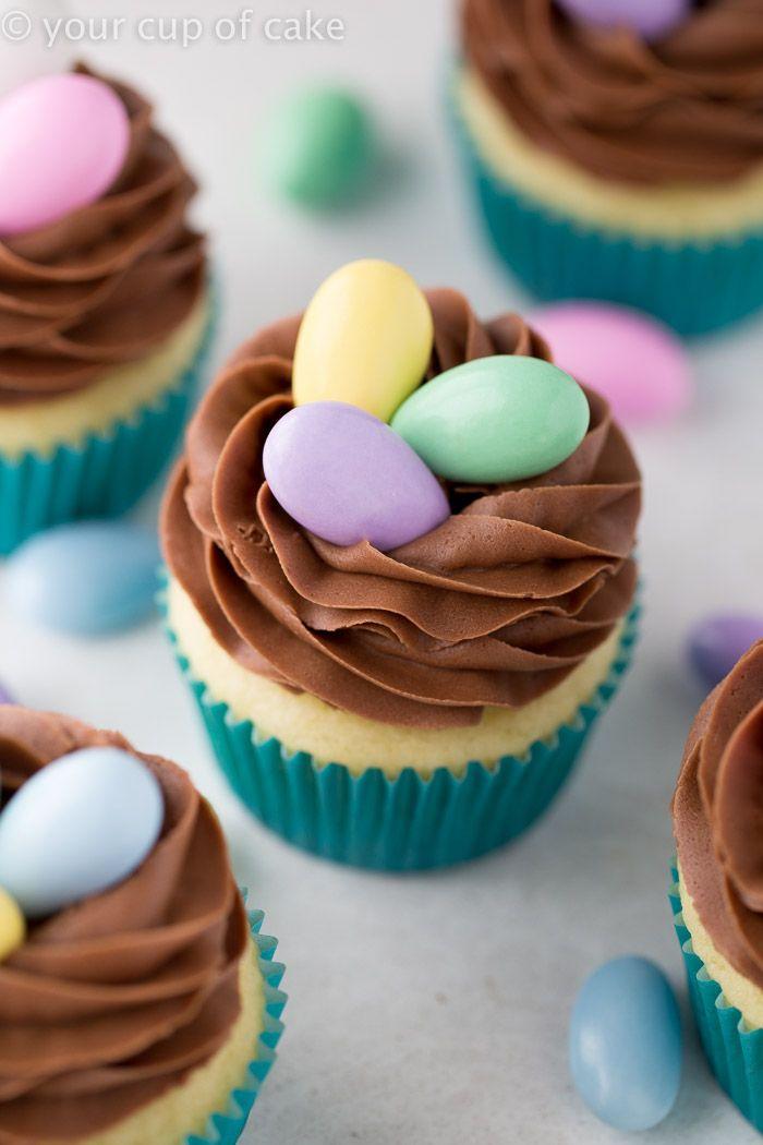 14 Easy Easter Cupcake Decorating ... & Easy Spring Cupcake Decorating Ideas - Elitflat