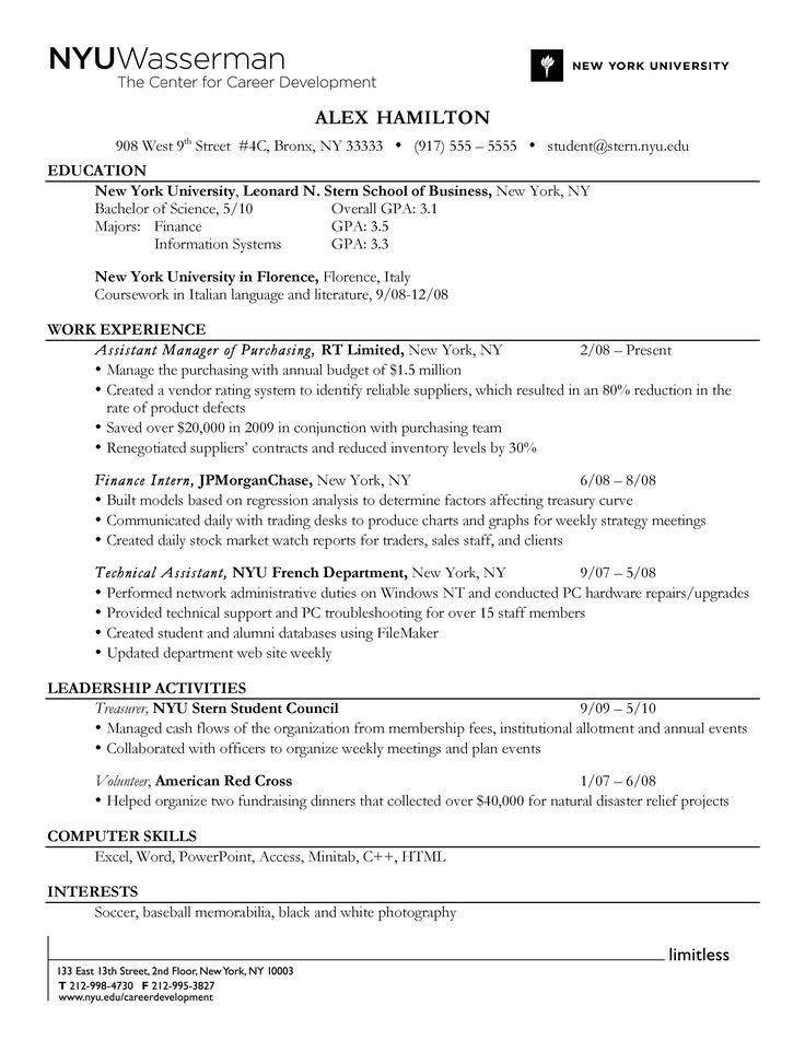 resume education order