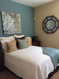 Sherwin Williams paint- moody blue & row house tan ...