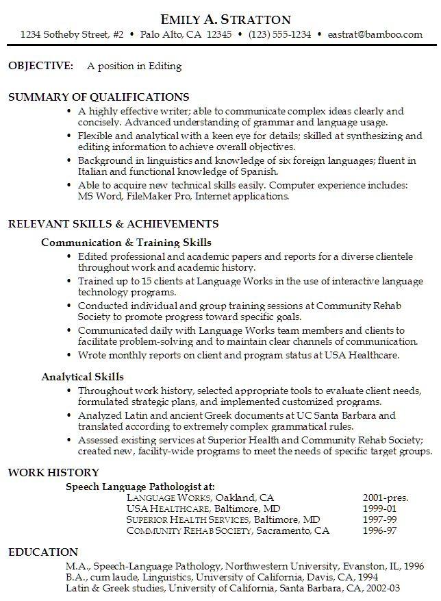 Proper Resume Format Examples Professional Resume Samples In Word - proper format of resume