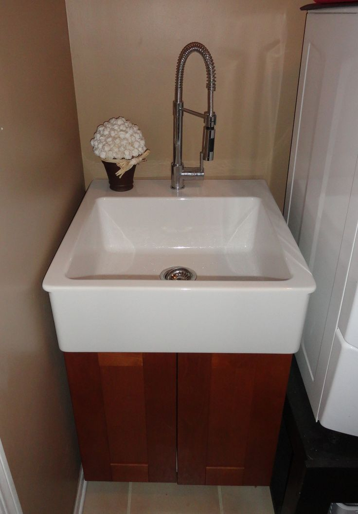Utility Sink Sink And Cabinet From Ikea Laundry Room