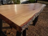 Live Edge Cherry Solid Hardwood Wood Slab Natural Table ...