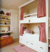 privacy curtains | built in bunk beds | Pinterest | Kid ...