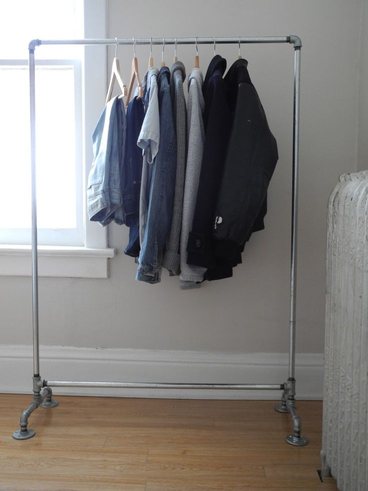 Cloth Rack 25+ Best Ideas About Pipe Clothes Rack On Pinterest