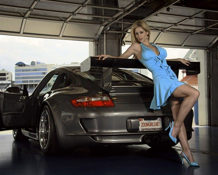 3d Stylish Girl Wallpaper Sexy Blonde And Porsche 911 Gt3 Cars And Girls