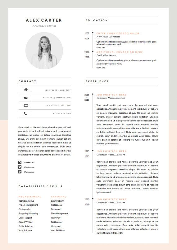 26 Best Graphic Design Resume Tips With Examples 25 Best Ideas About Graphic Designer Resume On Pinterest