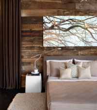 rustic meets modern bedroom : art : window treatment ...