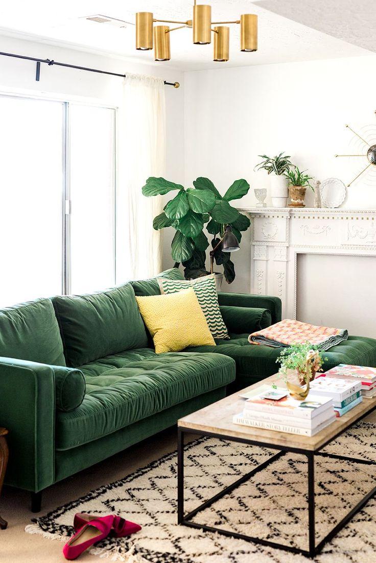 Best 25+ Green sofa ideas on Pinterest