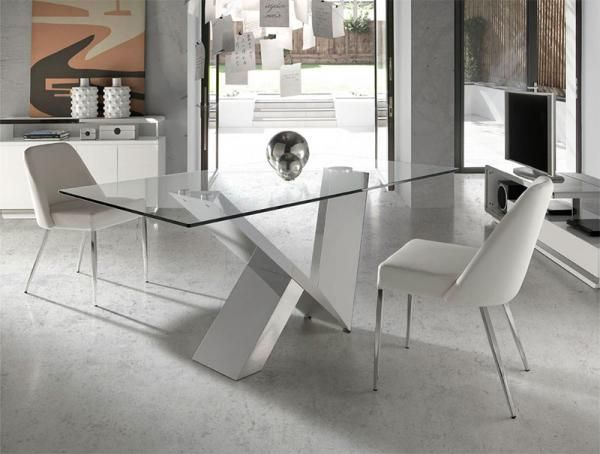 Muebles Angel Cerda Angel Cerda Contemporary Glass And Chrome Dining Table