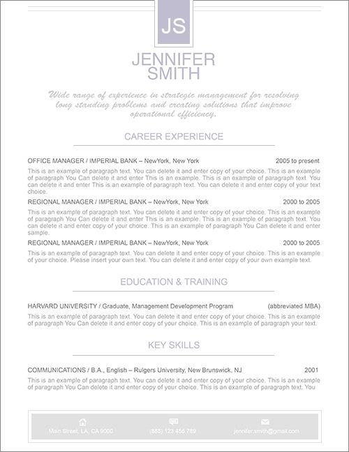 Elegant Resume Template - Premium line of Resume \ Cover Letter - apple resume templates