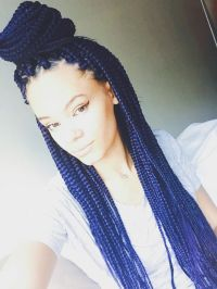 25+ Best Ideas about Blue Box Braids on Pinterest | Box ...