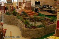 Indoor waterfall and koi pond - Display for Faribault Ace ...